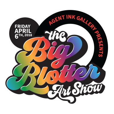 The Big Blotter Art Show Logo Design By Optimize Giant